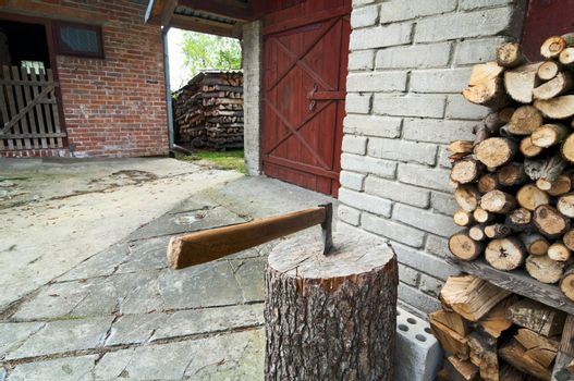 Axe and barn