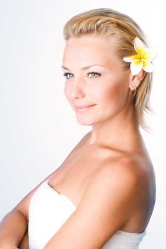 Beautiful Young Spa Woman Portrait