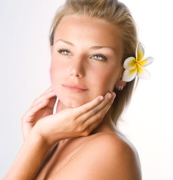 Beautiful Spa Girl Face. Perfect Clear Skin Concept