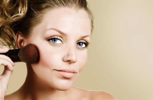Beautiful Young Woman Face. Make-up Concept