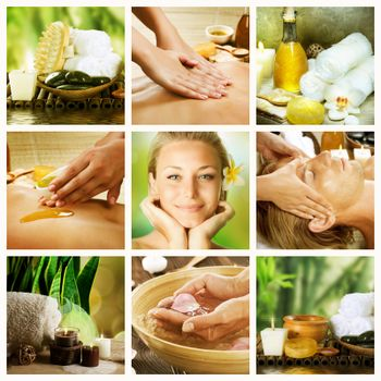 Spa Collage. Dayspa Concept