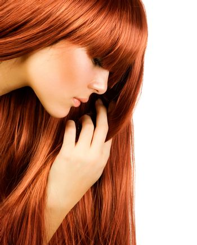 Hairstyle.Healthy Long Hair .Beautiful Girl portrait