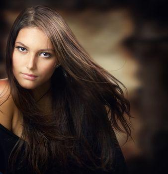 Beautiful Young Woman. Amazing Brunette
