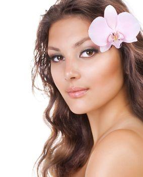 Beautiful Young Woman. Natural Beauty