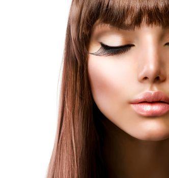 Face. Fashion Makeup. Perfect Skin