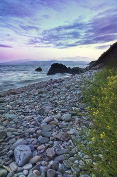 Stones and coastline