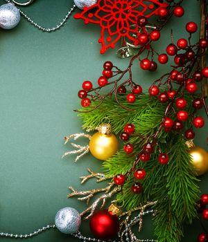 Christmas Decorations border design. Vintage Style