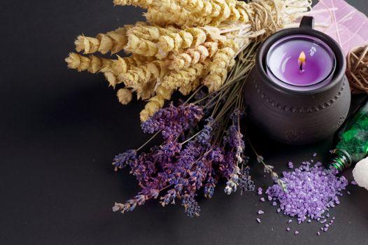 Herbal Medicine Over Black
