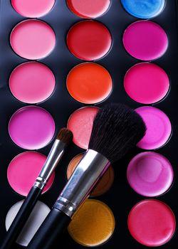 Makeup. Professional multicolor set