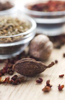 Spices. Cardamon