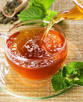 Pouring Healthy Tea