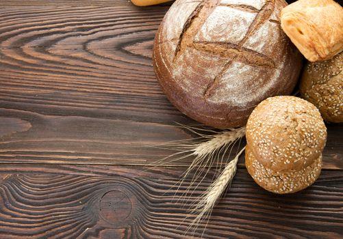 Bread Border. With Copy Space