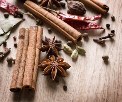 Various Spices Background