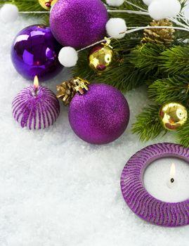 Christmas Violet Decorations