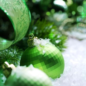 Christmas Decoration with Snow