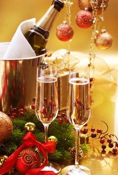 New Year Celebration.Champagne