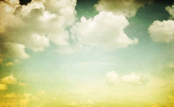 Vintage Styled Cloudy Sky