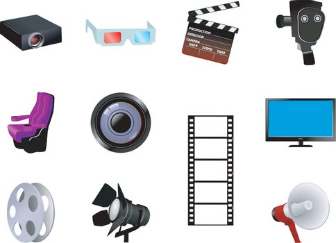 set of the different cinematographic objects