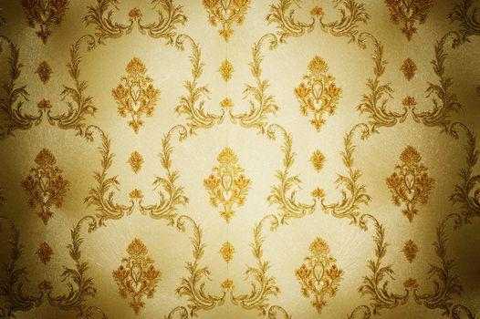 Golden Damask Pattern