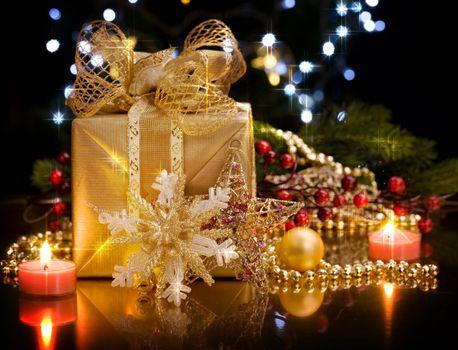Christmas over black