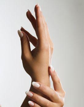 Beautiful Female Hands. Manicure concept