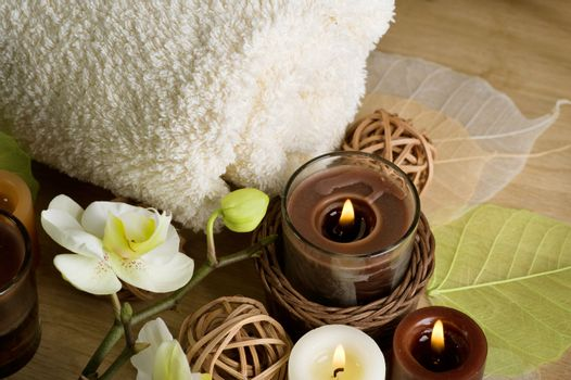 Fluffy Towel And Candles