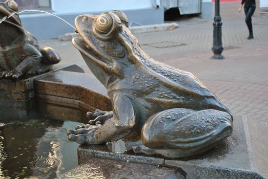 Monument of the frog, fountain