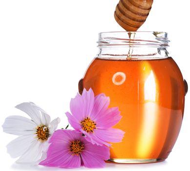 Honey over white