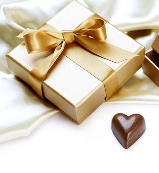 Valentine Gift. Chocolate heart