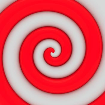Abstract background of vibrant red spiral swirl
