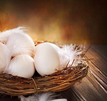 Easter Eggs in the nest