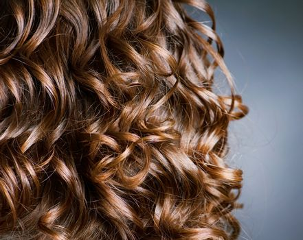 Curly Hair. Hairdressing. Wave