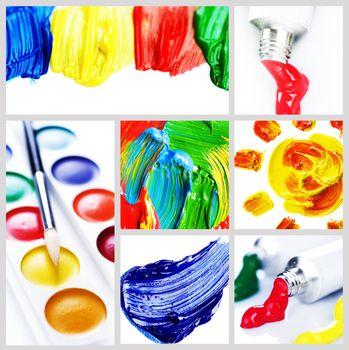 Color Paint Collage