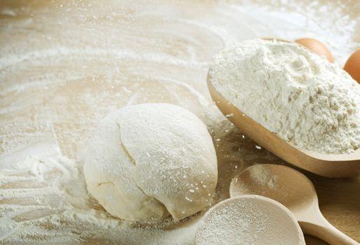 Bread cooking. Baking. Dough