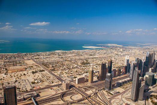 DUBAI, UAE. - NOVEMBER 29 : Dubai,the top view on Dubai
