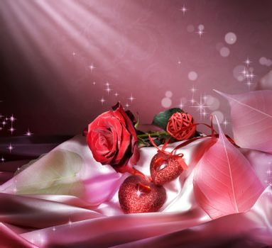 St.Valentine's Background With Copy Space