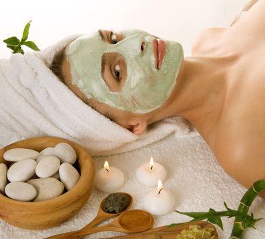 Spa Facial Mask. Dayspa