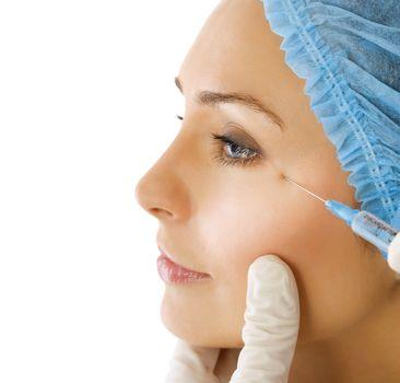 Botox Injection. Plastic Surgery