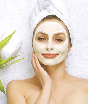 Spa Facial Mask. Dayspa concept
