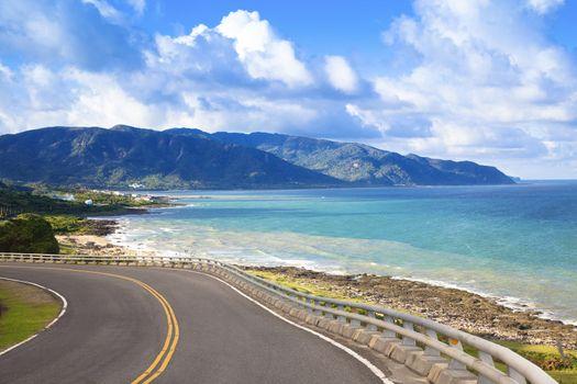 coastline of kenting national park in taiwan