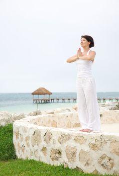 meditation at the seashore