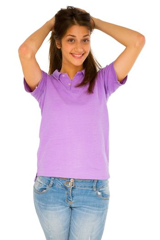 teenage girl with hands on head