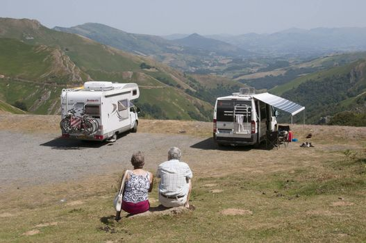 motohome touring the the Pyrenees southwest France