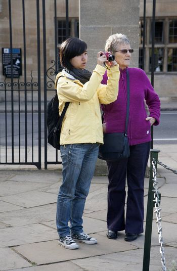 Tourists in Oxford England UK