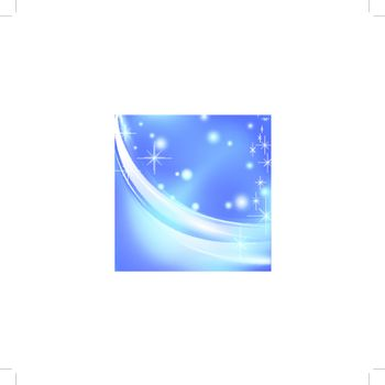holiday frame with stars in blue