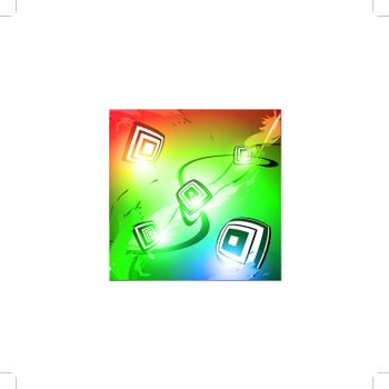 abstract multicolored background with square shapes
