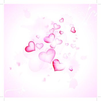 love abstract background with hearts and stars