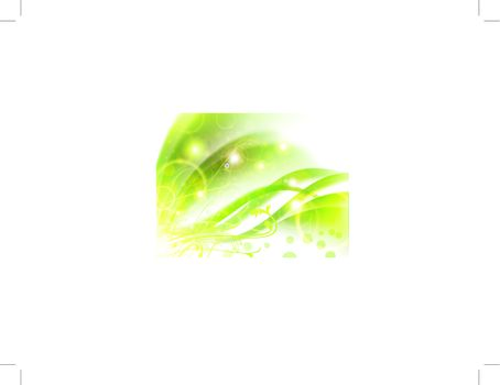 Bright abstract green floral background