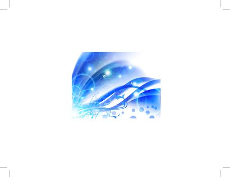 Bright abstract blue floral background