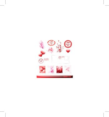 Valentine`s day collection with some decorative elements